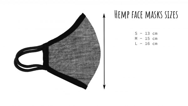 Hemp face mask sizing