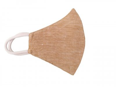 Hemp face mask in beige color